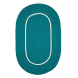 Silhouette SL58 Teal Braided Rug by Colonial Mills