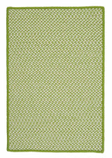 Outdoor Houndstooth Tweed OT69 Lime Braided Rug by Colonial Mills