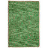 Point Prim IM63 Leaf Green Braided Rug by Colonial Mills