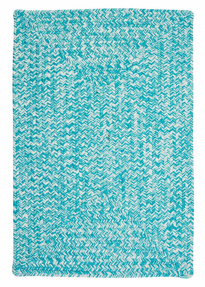 Catalina CA19 Aquatic Blue Braided Indoor Outdoor Rug by Colonial Mills
