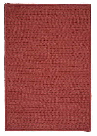 Simply Home Solid H104 Terracotta Indoor/Outdoor Ultra Durable Rug by Colonial Mills
