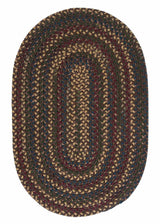 Midnight MN37 Java Braided Wool Rug by Colonial Mills