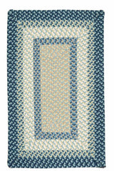 Montego MG59 Blue Burst Braided Rug by Colonial Mills