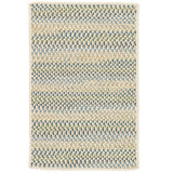 Chapman Wool PN21 Peacock Blue Braided Wool Rug by Colonial Mills