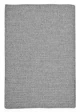 Westminster WM61 Light Gray Braided Wool Rug by Colonial Mills