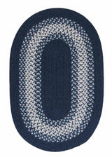 North Ridge NG59 Navy Braided Wool Rug by Colonial Mills