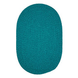 Spring Meadow S504 Teal Braided Rug by Colonial Mills
