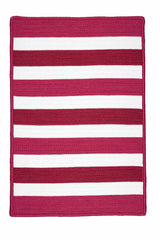 Portico PO79 Chile Red Braided Striped Outdoor Rug by Colonial Mills