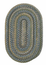 Rustica RU50 Whipple Blue Braided Wool Rug by Colonial Mills