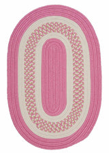 Flowers Bay FB21 Pink Braided Kids Rug by Colonial Mills