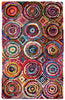 Colorful AMB1001 Tie-Dye Circle Natural Fiber Rug