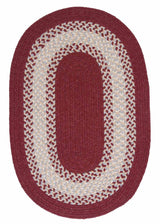 North Ridge NG79 Berry Braided Wool Rug by Colonial Mills