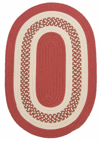Crescent NT71 Terracotta Braided Rug by Colonial Mills