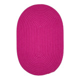 Boca Raton BR70 Magenta Braided Indoor Outdoor Rug by Colonial Mills