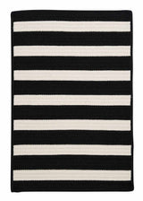 Stripe It TR89 Black White Indoor/Outdoor Rug by Colonial Mills
