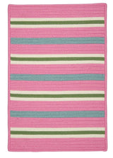Painter Stripe PS71 Spring Pink Braided Rug by Colonial Mills