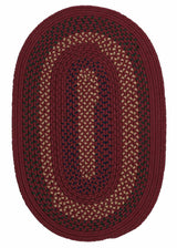 Deerfield DF81 Deep Russet Braided Rug by Colonial Mills