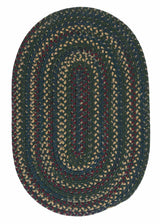 Midnight MN77 Deep Forest Braided Wool Rug by Colonial Mills