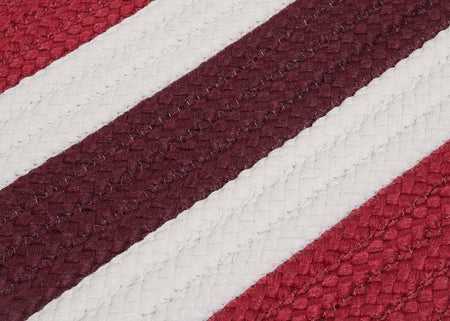 Portico PO79 Chile Red Braided Striped Outdoor Rug by Colonial Mills - Select Area Rugs