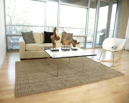 Gray Jute Rug | Handmade Natural Fiber Rug With Chunky Weave - Select Area Rugs
