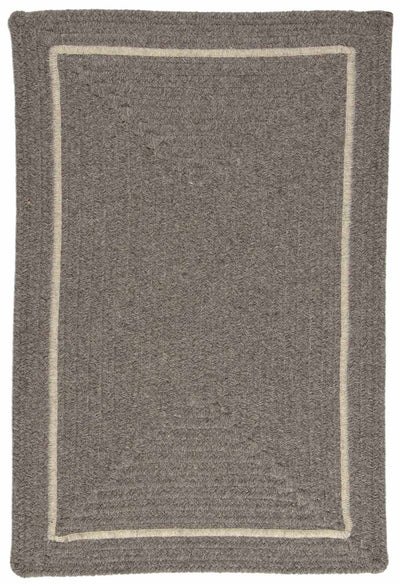 Shear Natural EN32 Rockport Gray Modern Braided Wool Rug by Colonial Mills