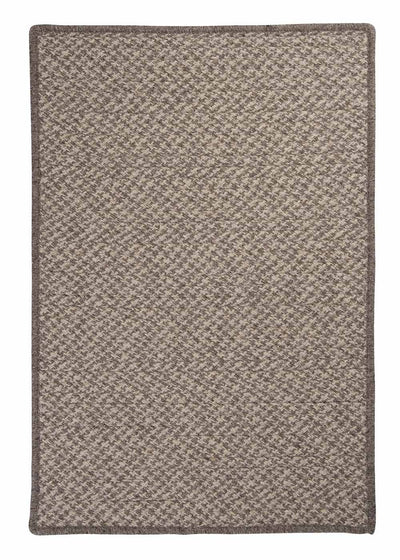 Natural Wool Houndstooth HD32 Latte Braided Wool Rug by Colonial Mills