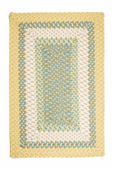 Montego MG39 Yellow Braided Rug by Colonial Mills