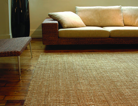 Natural Jute Rug | Handmade Golden Fiber Rug With Chunky Texture - Select Area Rugs