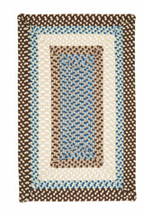 Montego MG89 Bright Brown Braided Rug by Colonial Mills