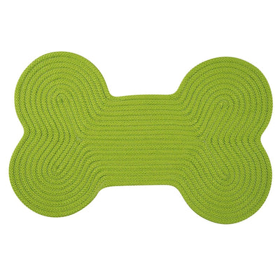 Dog Bone Solid H271 Bright Green Braided Rug by Colonial Mills