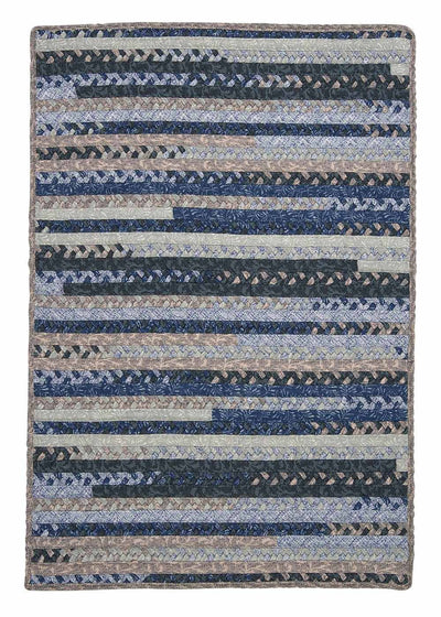 Print Party - Rects PY59 Denim Wash Transitional Rug by Colonial Mills
