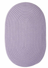 Purple Oval Braided Rug | Indoor/Outdoor Rug Made in USA