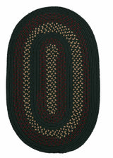 Deerfield DF61 Hunter Green Braided Rug by Colonial Mills