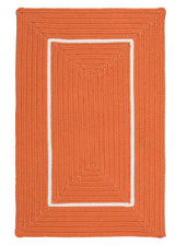 Doodle Edge FY22 Orange Braided Rug by Colonial Mills
