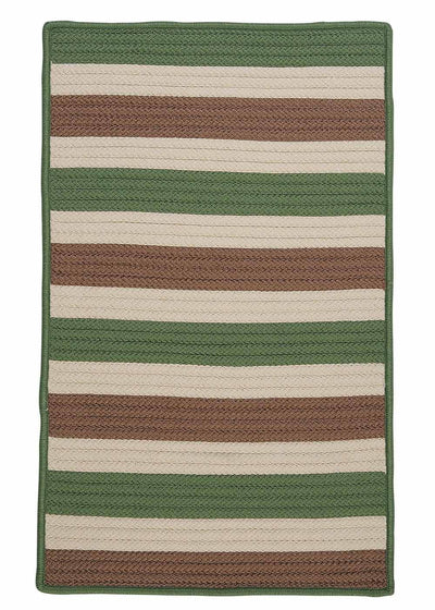 Stripe It TR69 Moss-stone Indoor/Outdoor Rug by Colonial Mills
