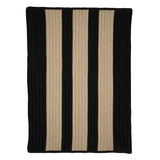 Boat House BT19 Black Braided Indoor Outdoor Rug by Colonial Mills