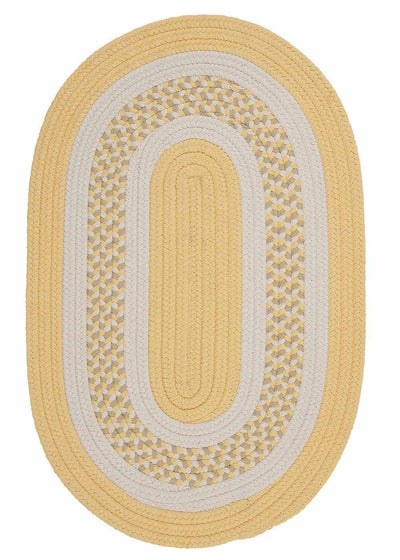 Flowers Bay FB31 Yellow Braided Kids Rug by Colonial Mills