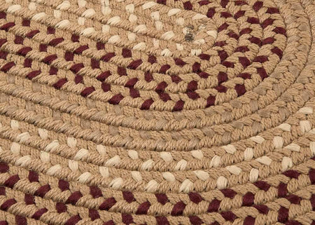 Deerfield DF91 Taupe Braided Rug by Colonial Mills - Select Area Rugs