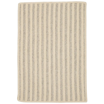 Woodland Rect OL23 Light Gray Braided Wool Rug by Colonial Mills