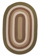 Brooklyn BN69 Moss Green Braided Rug by Colonial Mills