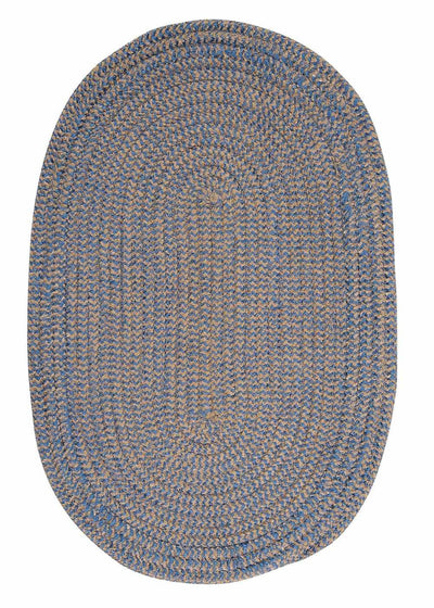 Softex Check CX25 Blue Ice Check Braided Rug by Colonial Mills