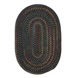 Midnight MN27 Charcoal Braided Wool Rug by Colonial Mills