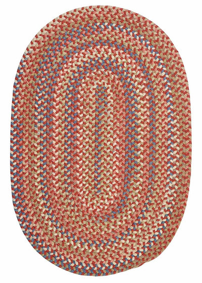 Cedar Cove CV79 Rust Red Braided Rug by Colonial Mills