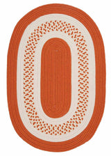 Crescent NT21 Orange Braided Rug by Colonial Mills