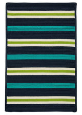 Painter Stripe PS51 Navy Waves Braided Rug by Colonial Mills