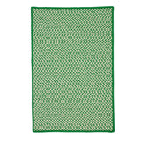 Outdoor Houndstooth Tweed OT67 Grass Braided Rug by Colonial Mills