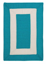Rope Walk CB92 Turquoise Braided Rug by Colonial Mills