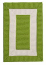Rope Walk CB91 Bright Green Braided Rug by Colonial Mills