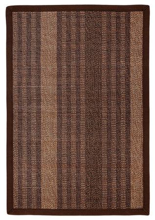 Bamboo AMB0025 Dark brown Natural Fiber Rug - Select Area Rugs