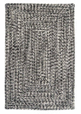 Catalina CA29 Blacktop Gray Braided Indoor Outdoor Rug by Colonial Mills